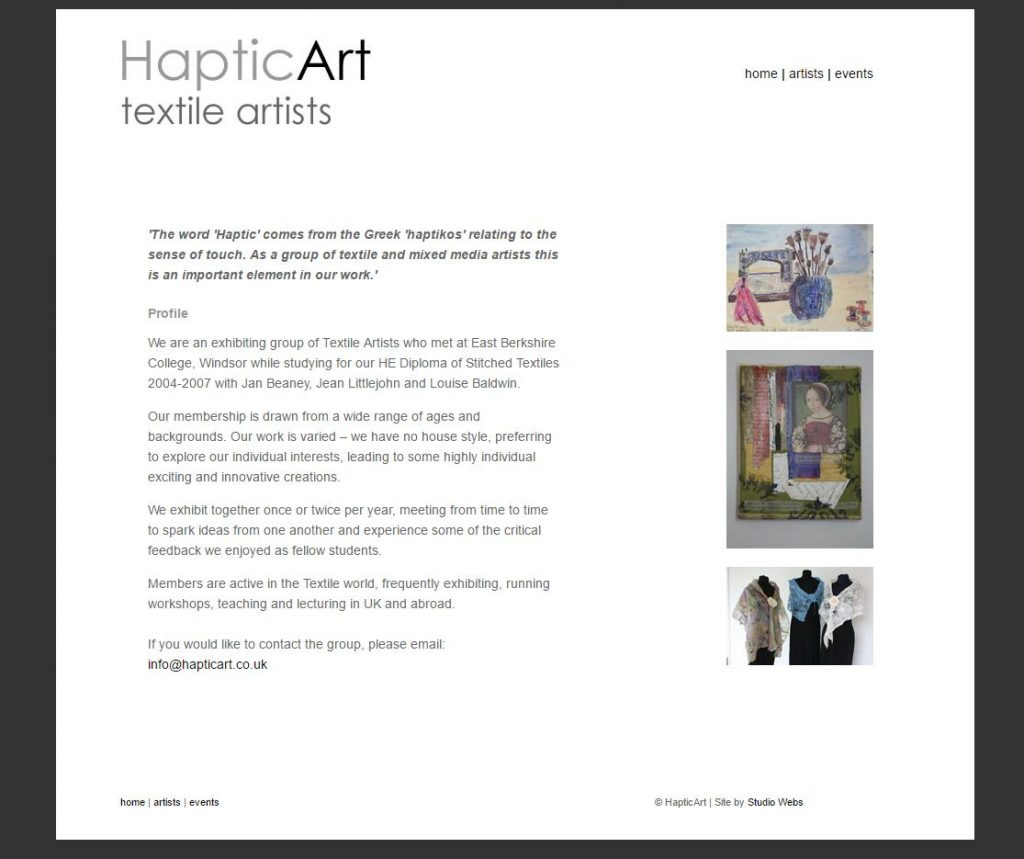"<a href=""http://www.hapticart.co.uk/index.html"" target=""_blank"">VIEW SITE</a>"