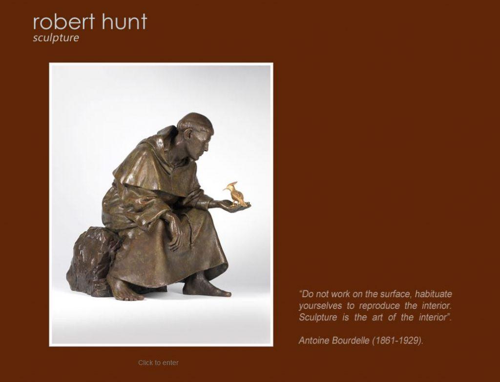 """<a href=""""http://www.roberthuntsculpture.com"""" target=""""_blank"""">VIEW SITE</a>"""
